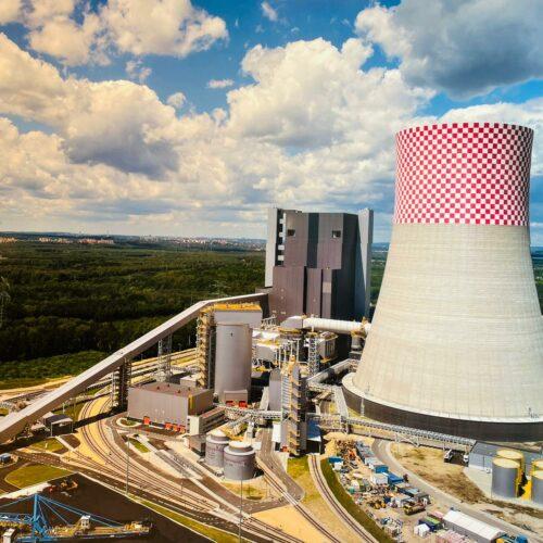 Próby stałych urządzeń gaśniczych na nowym bloku Elektrowni 910MW